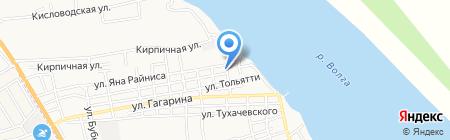 Наримановская центральная районная поликлиника на карте Астрахани