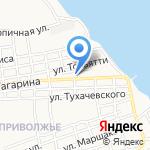 Космея на карте Астрахани