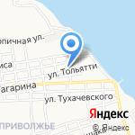 Алмаз на карте Астрахани