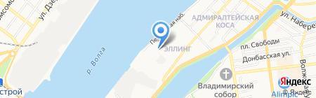 Ларчик на карте Астрахани
