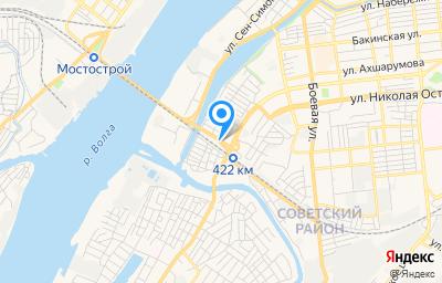 Местоположение на карте пункта техосмотра по адресу г Астрахань, ул Деминского, д 8