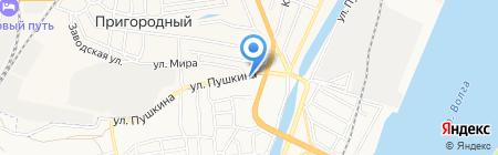 Скиф на карте Астрахани