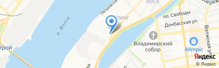 Арина на карте Астрахани