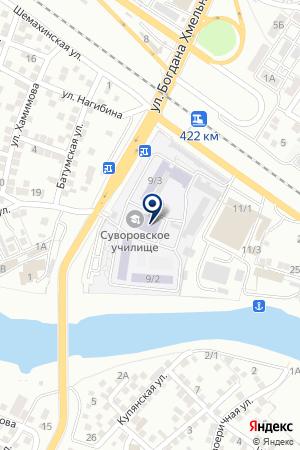 ШКОЛА МИЛИЦИИ Г.АСТРАХАНЬ на карте Астрахани
