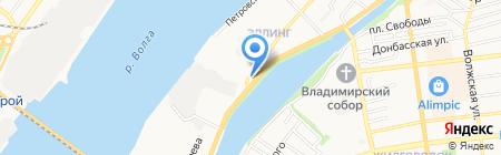 Штрафстоянка на карте Астрахани