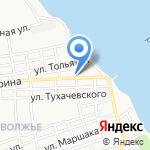 Средняя общеобразовательная школа №20 с дошкольным отделением на карте Астрахани