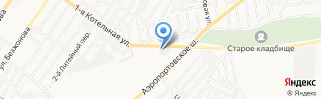 Лесоторговая база на карте Астрахани