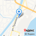 Поплавок на карте Астрахани