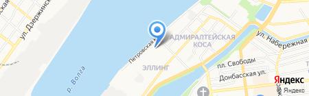 Каспиан на карте Астрахани