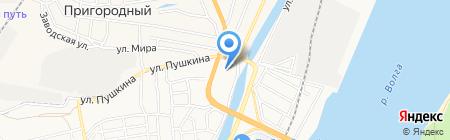 Космос на карте Астрахани