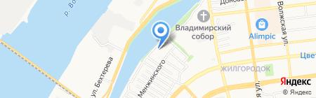 БКЕ Шельф на карте Астрахани