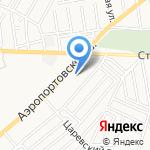 Федерация тенниса на карте Астрахани