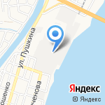 Муссон на карте Астрахани
