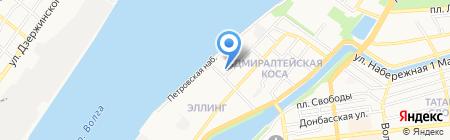 АСТ-Новосёл на карте Астрахани