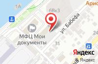 Схема проезда до компании Решение в Астрахани