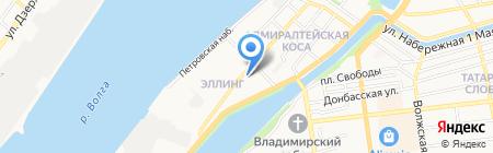 Русская изба на карте Астрахани