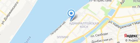 Паруса на карте Астрахани