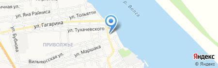 Дрожжевой Дом на карте Астрахани