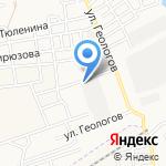 Приволжская гидрогеологическая партия на карте Астрахани