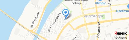 Техномарин на карте Астрахани