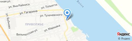 Давика на карте Астрахани