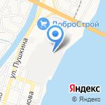 Волга-Порт на карте Астрахани