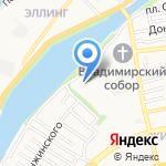 Приволжский затон на карте Астрахани