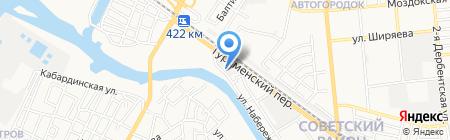 Астинтерком на карте Астрахани