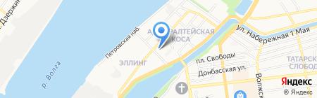 Анита на карте Астрахани
