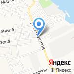 Бене на карте Астрахани