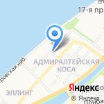 Астраханский лотос на карте Астрахани