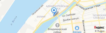 Капуста Астрахань на карте Астрахани