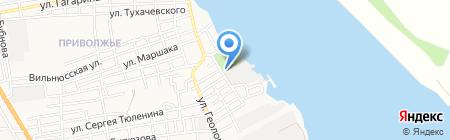 Рыбак-2 на карте Астрахани