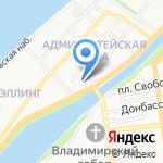 Каспийский институт морского и речного транспорта на карте Астрахани
