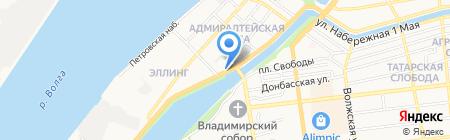 Crazy Dog на карте Астрахани