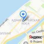 Средняя общеобразовательная школа №45 на карте Астрахани