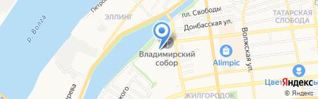 Ласка на карте Астрахани
