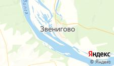 Гостиницы города Звенигово на карте