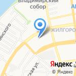 Абрис на карте Астрахани
