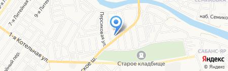 Строительная база на карте Астрахани
