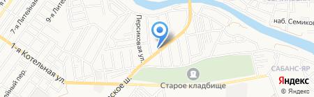 Южное на карте Астрахани