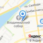 Генерал на карте Астрахани