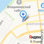 Средняя общеобразовательная школа №59 на карте Астрахани