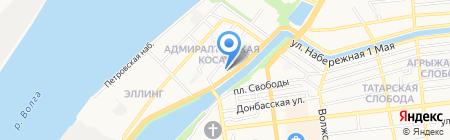 Адам и Ева на карте Астрахани
