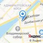 Волжская Ривьера на карте Астрахани