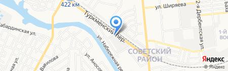 Диана на карте Астрахани