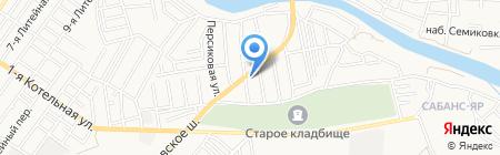 Старый трамвай на карте Астрахани