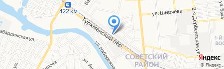 Гаражный кооператив №5 на карте Астрахани