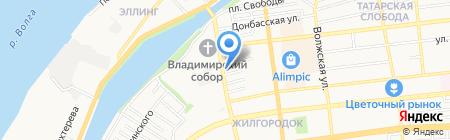 Царевская на карте Астрахани