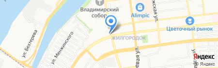 Гидромастер на карте Астрахани